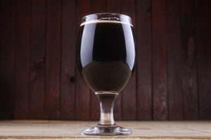 Dark beer in a glass