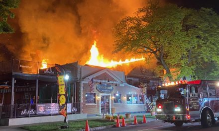 Crews Battling Massive Blaze at Brickyard Pub in Lewiston