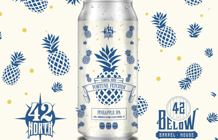 42 North Brewing to Release Rum Barrel-Aged Fortune Fetcher Pineapple IPA